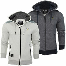 Voi Jeans Critical Hood Hooded/ Hoodie Jumper Jacket Sweat With Nylon Trims Mens