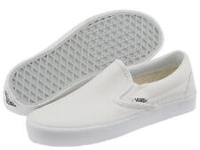 Men Vans Classic Slip On Canvas VN-0EYEWOO True White 100% Authentic Brand New