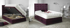 CHENILLE STORAGE DIVAN OTTOMAN 3FT SINGLE, DOUBLE 4'6, 5FT KING SIZE BED     #99