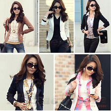Fashion M-2XL Women Blazer Plus Size One Button Lapel OL Slim Fit Suits Jackets