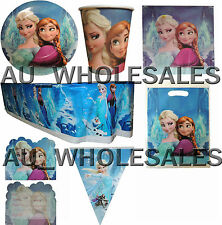 FROZEN PLATES CUPS LOOT BAGS INVITES BUNTING TABLECOVER SERVIETTE PARTY SUPPLIES