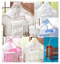 Crown Baby Canopy Drape / Mosquito Net 480cm + Holder/Rod/Stand Fits Cot/Cot Bed