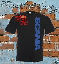 SCANIA t-shirt vertical logo tuning truck tir camion sport 12 colours