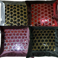 """Sequin Cushion Cover Covers Quality Faux Satin Silk 16 x 16"""" Polyester Sale"""