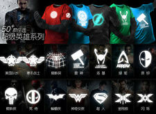 Marvel Comics Superhero Mens & Womens BATMAN IRONMAN HULK FLASH LOKI T Shirt G01
