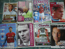 Burnley Home Programmes 2000/01 - 2006/07  Select from list