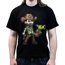 Plants Rick vs Zombies The Walking Dead Season 4 5 dvd T-shirt P751