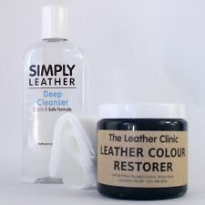 Leather Cleaner & Color Restorer Restoration Kit For Sofa, Car Interior etc