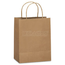 "8x4.75x10"" Small Brown  Kraft Paper Shopping Bag, Party, Gift Bags"