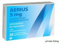 AERIUS 30 tabs 0.5mg  Allergy Tablets - 24 Hour Non-Drowsy Antihistamine