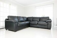 BRAND NEW AMY CORNER SOFA SUITE FAUX LEATHER BROWN BLACK OR CREAM *BARGAIN