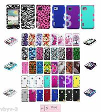 Heavy Duty Hybrid Silicone Hard Impact Case Cover for LG Optimus F3 MS659 LS720