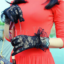 New Summer Women bride Lace Ceremonial Wedding sunscreen Driving Gloves st68