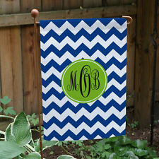 Monogram Madness Personalized Garden Flag - Choose Color, Pattern & Font