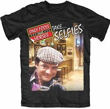 Only Fools and Horses Take Selfies Del Boy OFFICIAL T Shirt Black