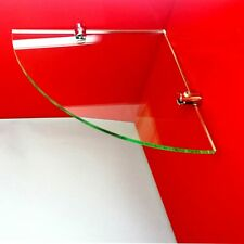 ACRYLIC CORNER SAFETY SHELF WITH CHROME FIXINGS(Dining,Kitchen Bathroom,bedroom)