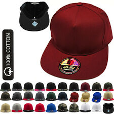 New 5 Panel Hat Plain Flat Bill Snapback Caps Baseball Custom Blank Fitted Caps