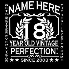 18th Birthday T-Shirt Ladies Cut Add Name Personalise Change Year Gift Idea Girl