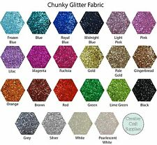 Chunky Glitter Fabric Sheet - High quality - Choose your colour