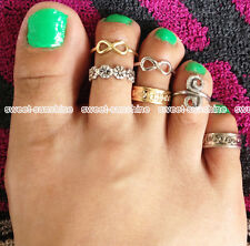 All Styles Celebrity Fashion Carving Toe Ring Adjustable Foot Ring Beach Jewelry