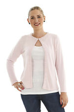 Ladies Ex MnS Round Neck L/Sleeve Pink Cardigan With Beads All The Way Down