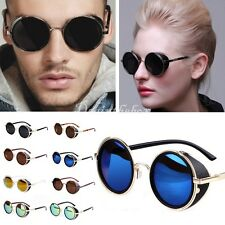 Steampunk Sunglasses 50s Round Glasses Cyber Goggles Vintage Retro Blinder dint