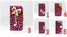 LUXURY DIAMOND RHINESTONE BLING CRYSTAL COVER WALLET CASE FOR MOBILE PHONES 1