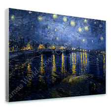 HUGE Canvas Van Gogh Starry Night Over the Rhone wall art reproduction print