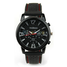 Pilot Aviator Army Style Mens Military SILICONE Outdoor Sport Quartz Watch New