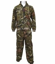 GENTS OAK TREE CAMO HUNTING SUIT cotton zip jacket & bottoms set Mens tracksuit