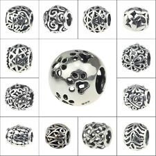 .925 Sterling Silver European Style beads The design style of hollow out charms