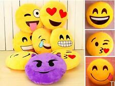 TI US Emoji Smiley Emoticon Yellow Round Cushion Pillow Stuffed Plush Toy Doll