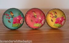 Lovely Japanese Bird Drawer Knobs   3 AssortedColours - Update your Furniture