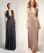 ♥ French Connection Maxi Dress Grecian Darcy Drape Jersey Cocktail Size 6-14
