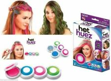 Womens Girls Hot Huez Set Of 4 Bright Party Colour Temporary Hair Colour Chalk