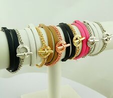 New Arrivals!MARC BY M JACOBS Multilayer Leather Bracelet 6 colors available
