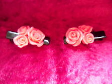 35mm ALLIGATOR CLIPS WITH RESIN ROSES Hair/Head bands/Bobbles/Clips