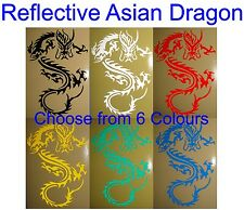 1x Asian Dragon Reflective Glossy Stickers For Car or Home Decal