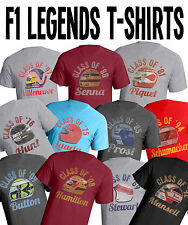 Mens Grand Prix Formula One Legends Retro T-Shirt F1 Car Choose Your Legend