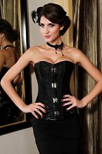 Quality Brocade Steampunk Corset Top with Clasp Fasteners LC5273 2014 hot Sale