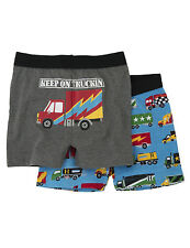 *BNWT* Hatley Boys 2 Pack Boxer Shorts - Big Rig Truck Lorries - NEW FOR AW14