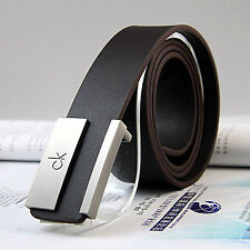 new Leather Belt Metal Buckle Belt Dress Casual Genuine Leather Belt