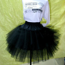 Charm 3 Layer Ballet Tutu Skirts Petticoat Slips Short Pleated Wedding Crinoline