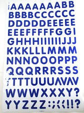 Letter Stickers Self Adhesive Blue Alphabets A-Z No Die Cut Sheet of 111