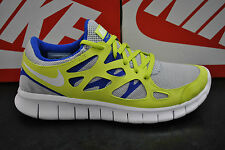 NIKE FREE RUN 2 NSW MENS SPORTS RUNNING TRAINERS - WHITE LIME BLUE - 540244 014