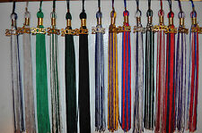GRADUATION TASSEL 2014 2015 charm drop date home school  CAP & GOWN  9""