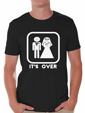 Game Over Funny T-Shirt Marriage Wedding Party Groom Couple Love T-Shirt