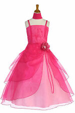 Dressesforgirls Fuchsia Flower Girl Pageant Easter Formal Wedding Dress J2463