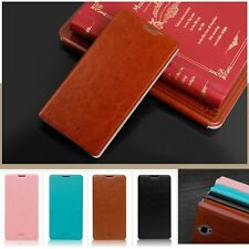 Thin PU Leather Flip Stand Cover Case for Alcatel One Touch Idol X Plus X+ 6043D