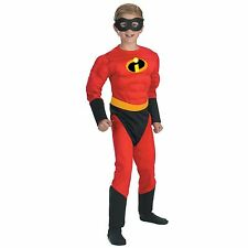 Child Disney Movie The Incredibles Dash Incredible Muscle Fast Superhero Costume